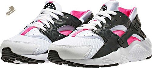 e8055a61da2b NIKE KIDS NIKE HUARACHE RUN (GS) WHITE PINK BLACK ANTHRACITE SIZE 6 M US -  Nike sneakers for women ( Amazon Partner-Link)