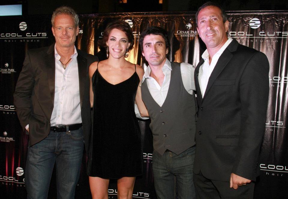Alvaro junto a Emilia Attias y el Turco Naim