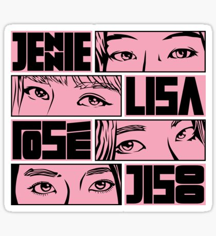 Blackpink Stickers in 2020 Blackpink, Eye black stickers