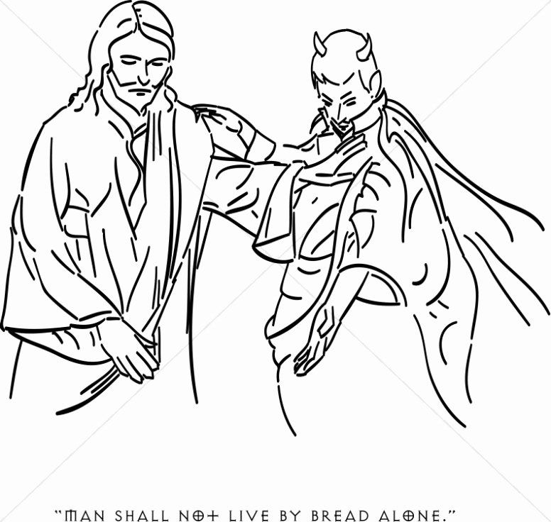 Satanic Temple Coloring Book Best Of Temptation Of Christ Clipart