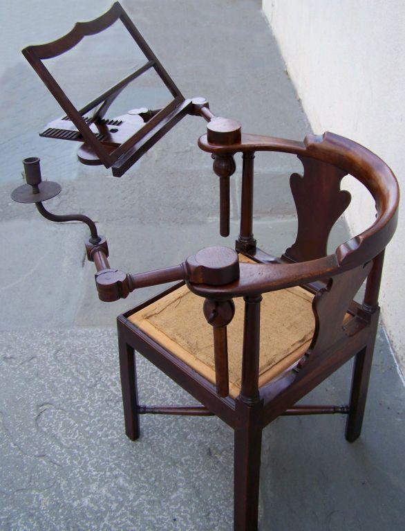 18th C Corner Mahogany and Pine Metamorphic Chair. Corner ChairReading  ChairsAntique ... - 18th C Corner Mahogany And Pine Metamorphic Chair Corner, Modern