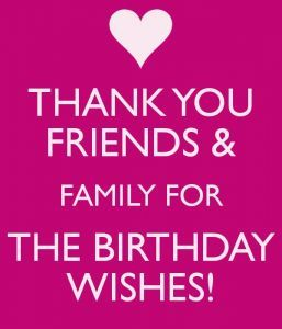 Quotes On Thanks For Birthday Wishes
