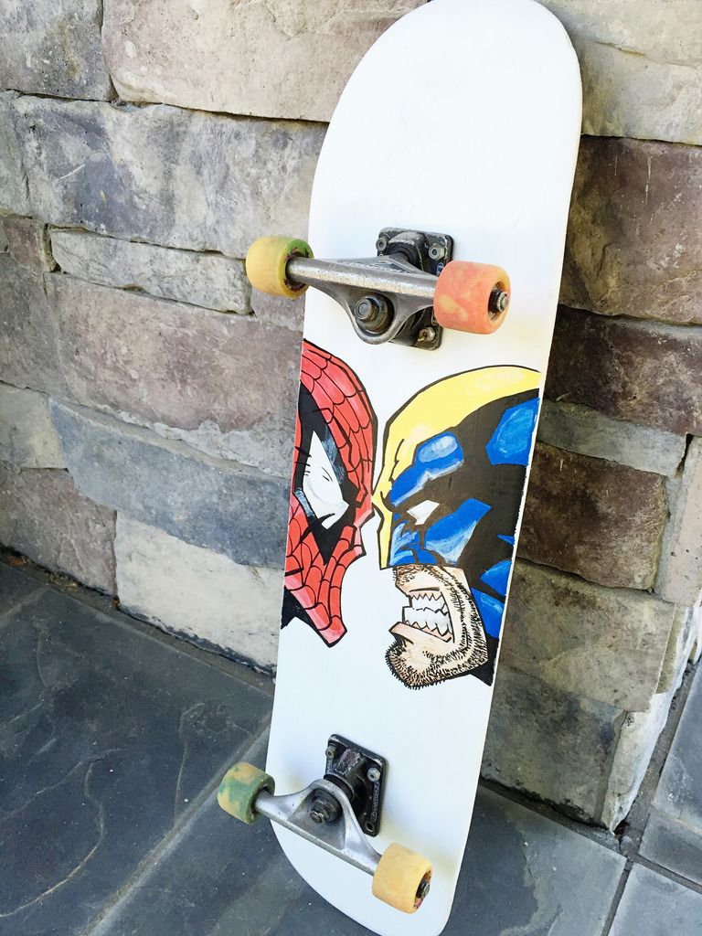 Painting A Skateboard Diy With Images Painted Skateboard