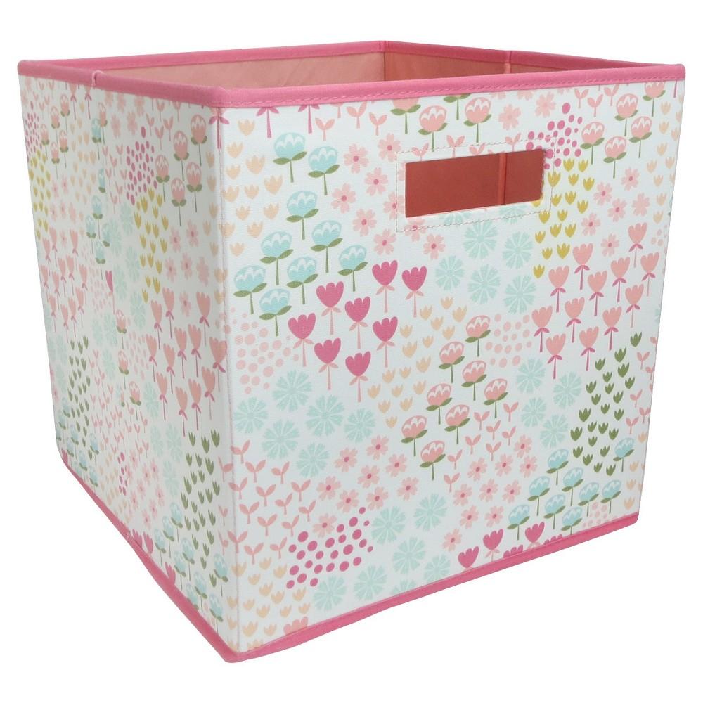13 X13 Floral Fabric Cube Toy Storage Bin Pillowfort Cube
