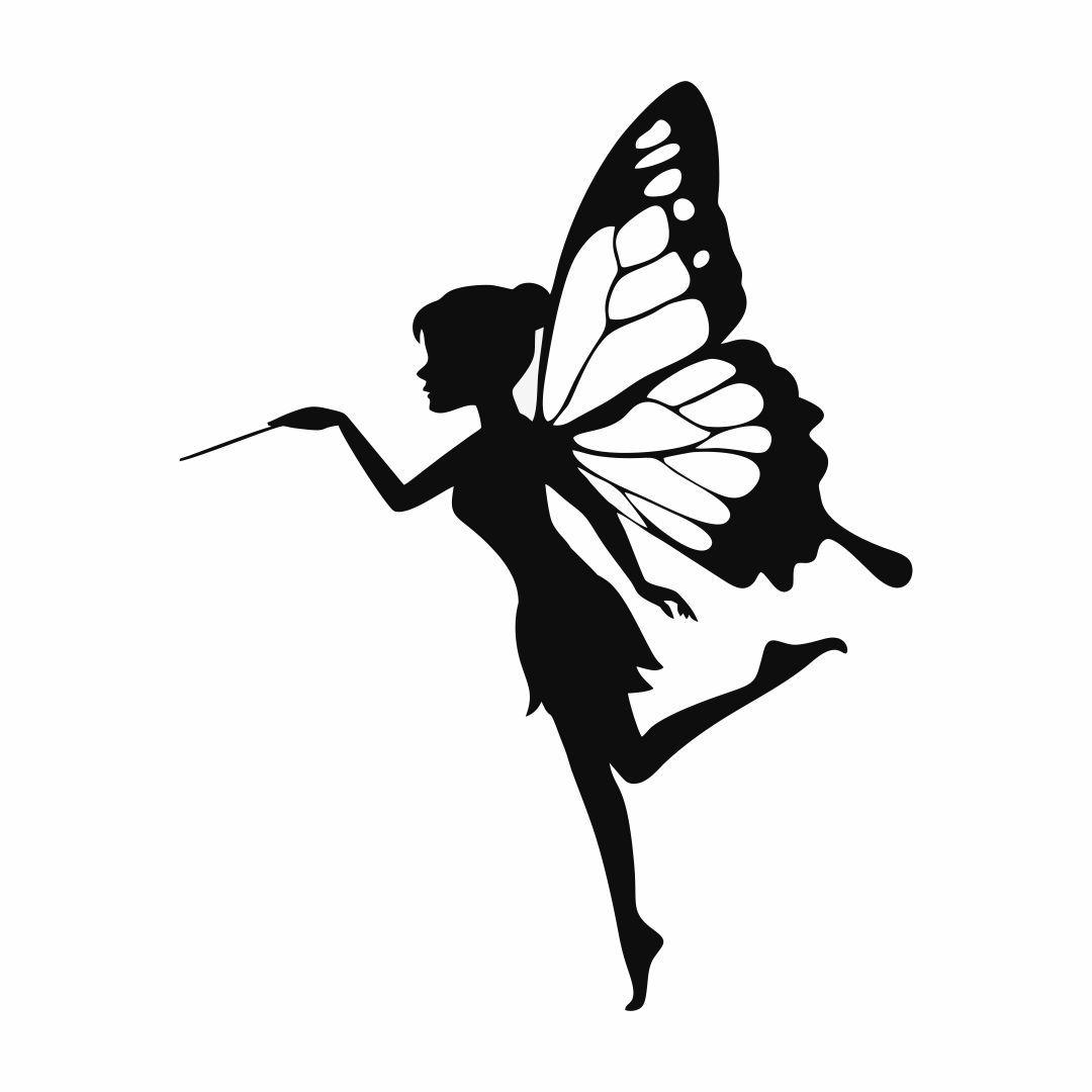 Fairy Silhouette Fairy Silhouette Fairy Stencil Small Fairy Tattoos