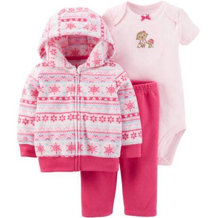 c2704a7a3 Child of Mine by Carter s Newborn Baby Girl Cardigan Set 3 Pieces ...