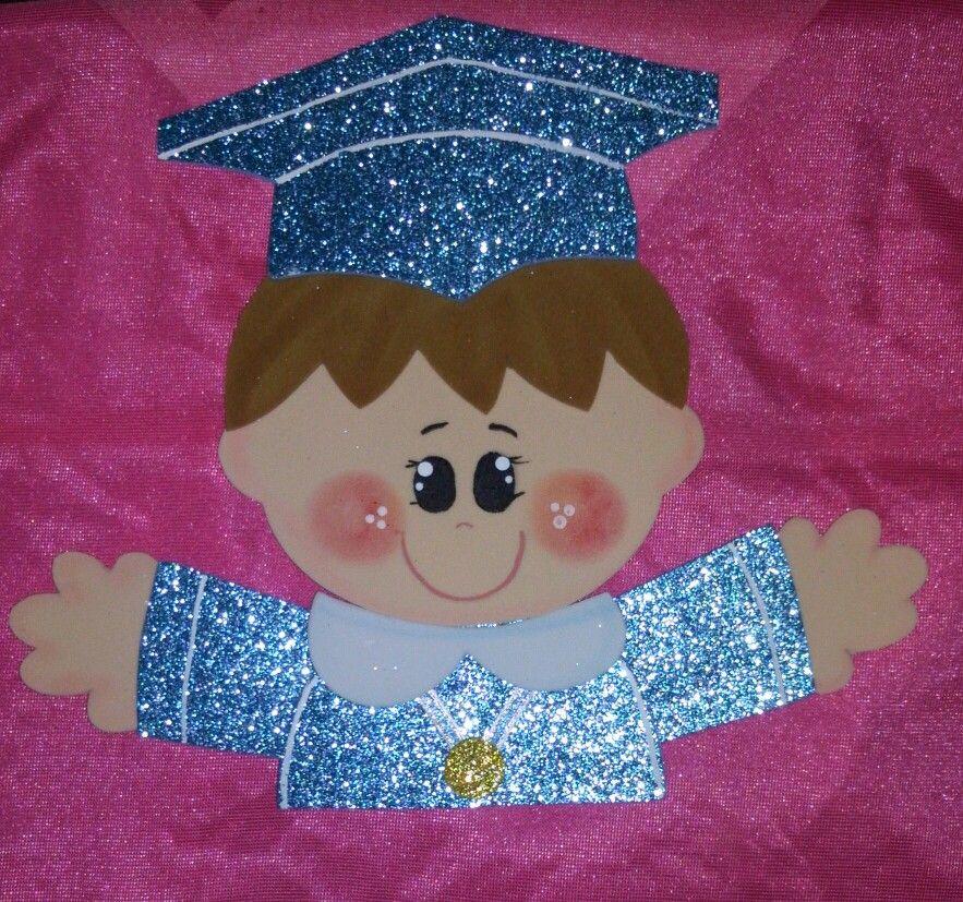 Graduado Foamy Manualidades Escolares Decoración Preescolar Niños Graduados