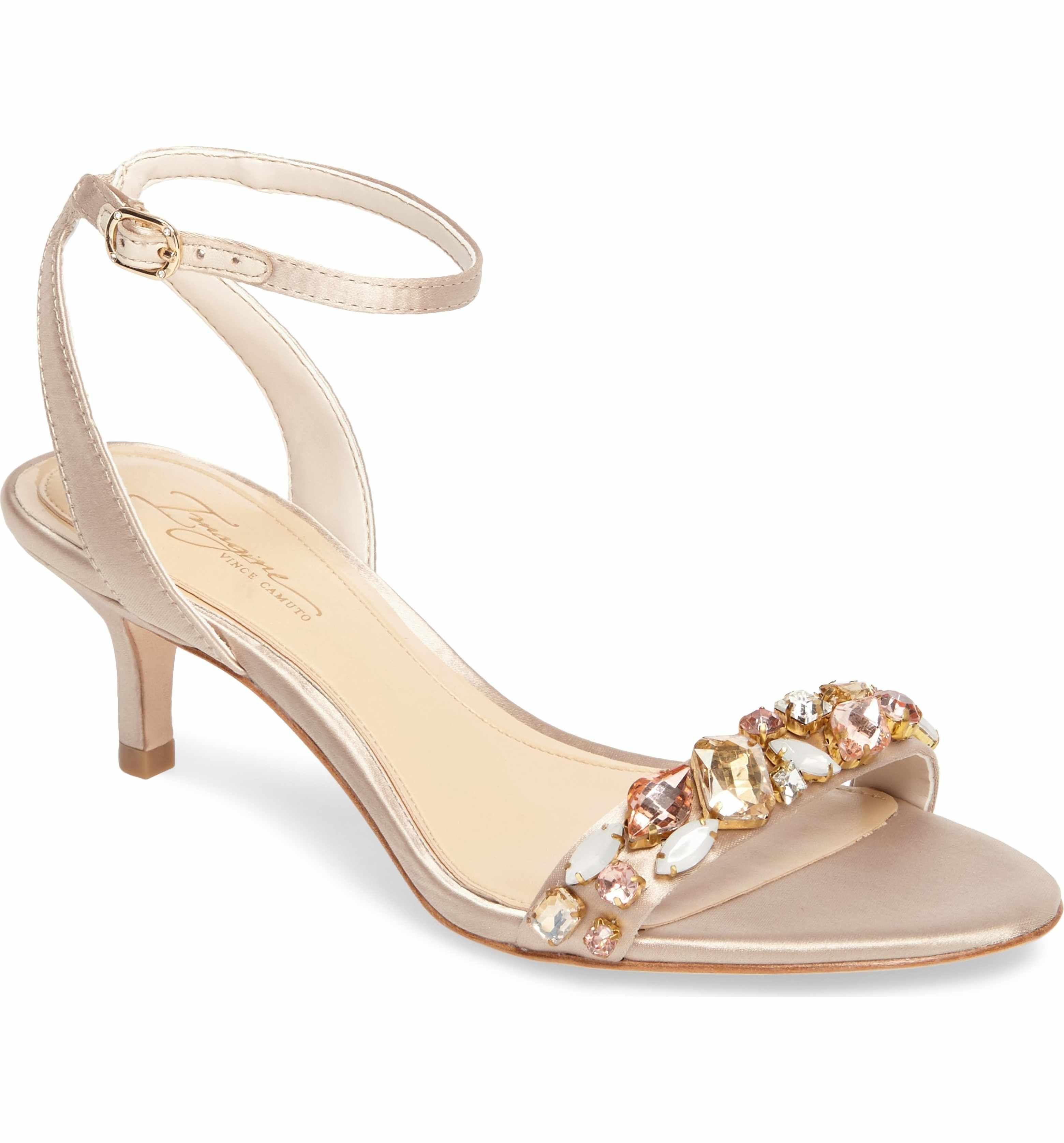 Vince Camuto Women's Imagine Vince Camuto Kolo Embellished Kitten Heel Sandal zfomck