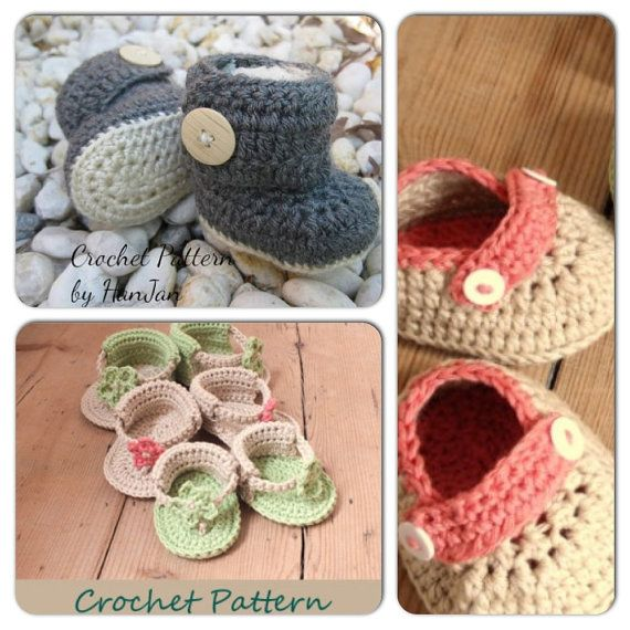 ede77ea9ef836e Crochet Pattern Combo Pack  Little Feet - Crochet Boots