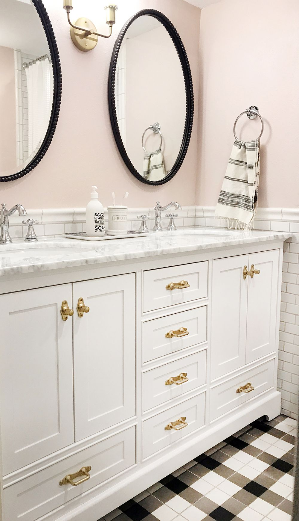 Before And After: The Girls' Bathroom Is Finished