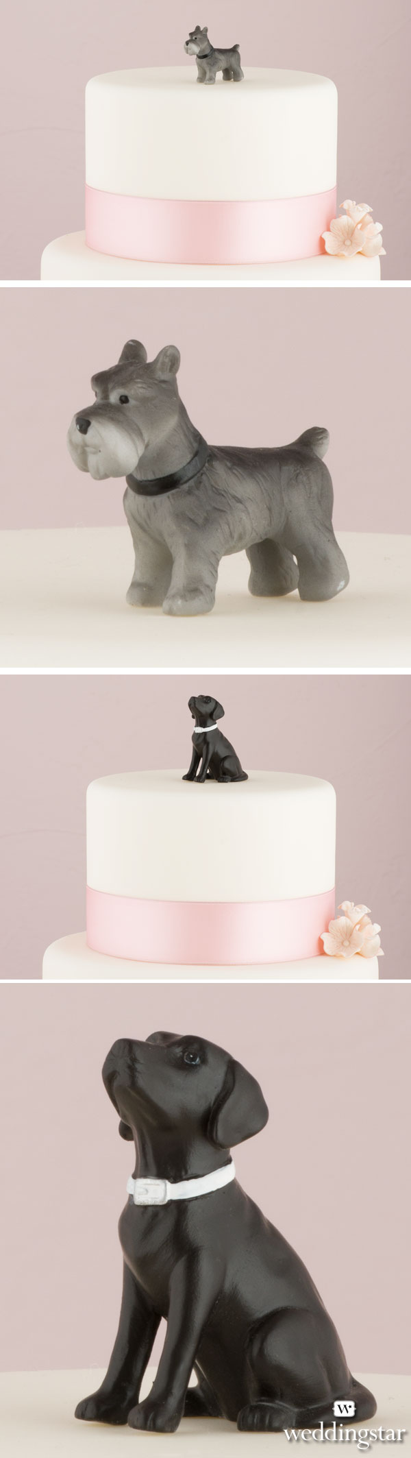Pet wedding cake toppers miniature terrier labrador and more
