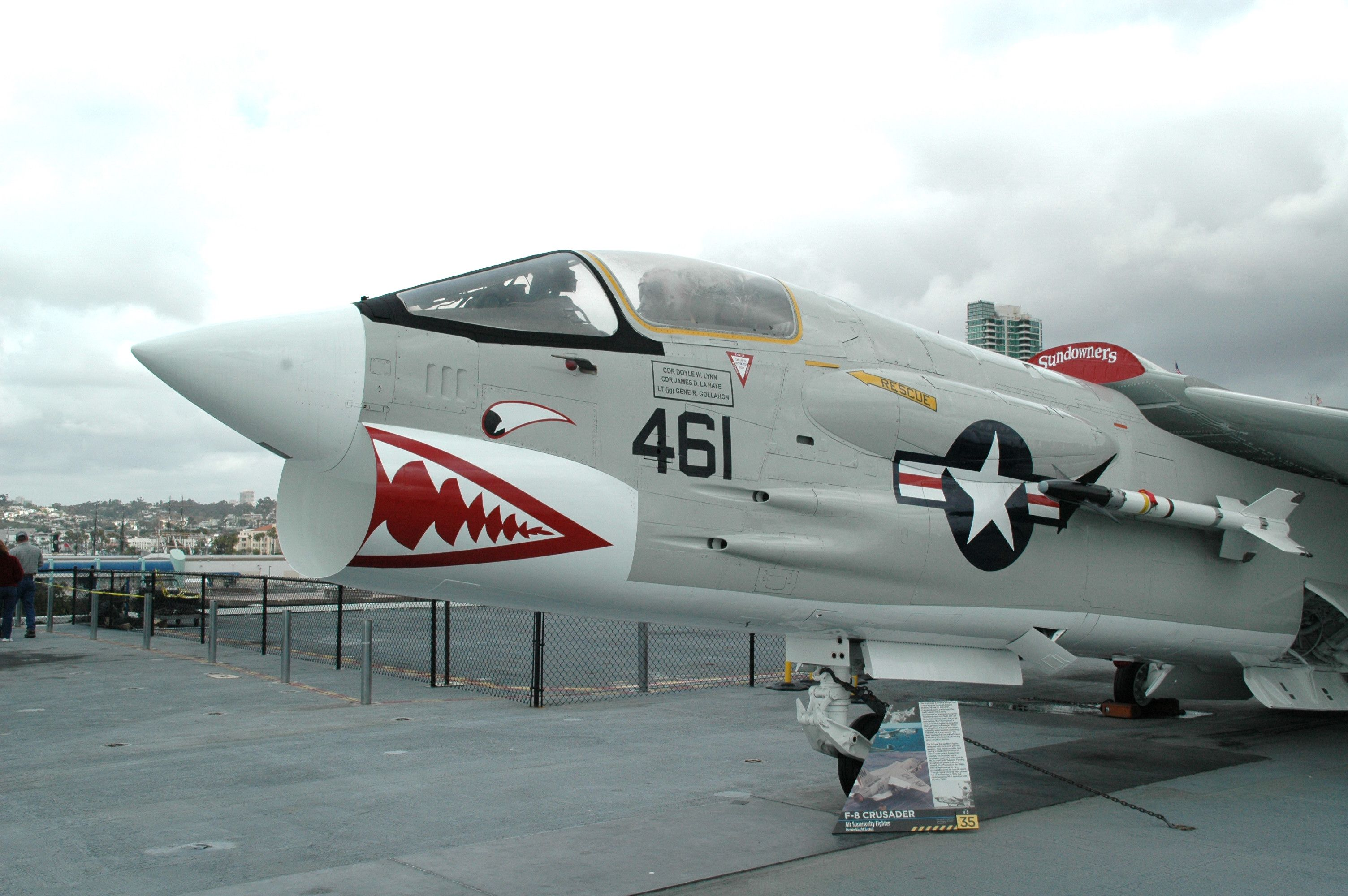 ChanceVought Crusader aboard the USS Midway at San Diego