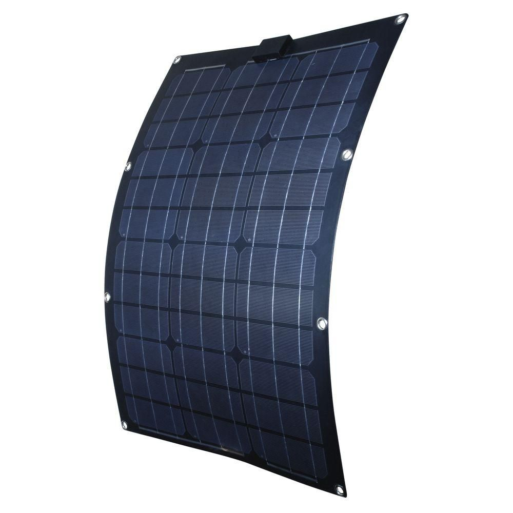 Nature Power 50 Watt Semi Flex Monocrystalline Solar Panel For 12 Volt Charging 56703 The Home Depot Flexible Solar Panels Monocrystalline Solar Panels Best Solar Panels