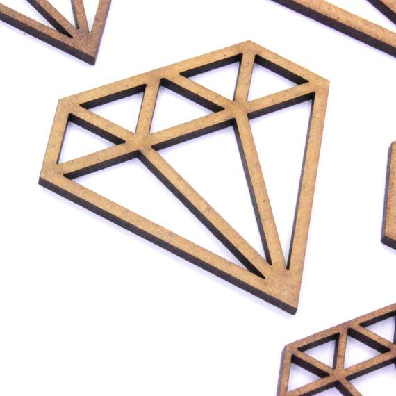 Geometric Diamond Craft Shape (10 Pack), Various Sizes ...