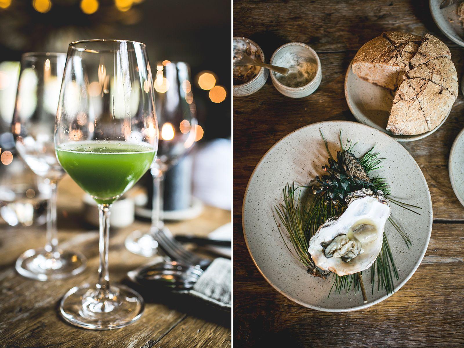 Juice and oyster at restaurant In de Wulf, Belgium | un-folf-ed.com