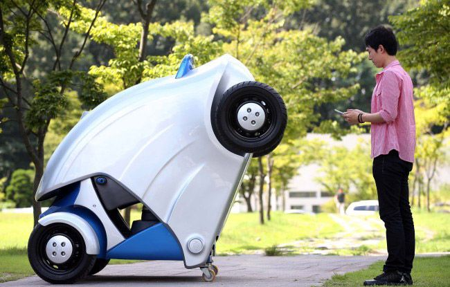 KAIST Unveils Foldable Electric Vehicle Electric Cars