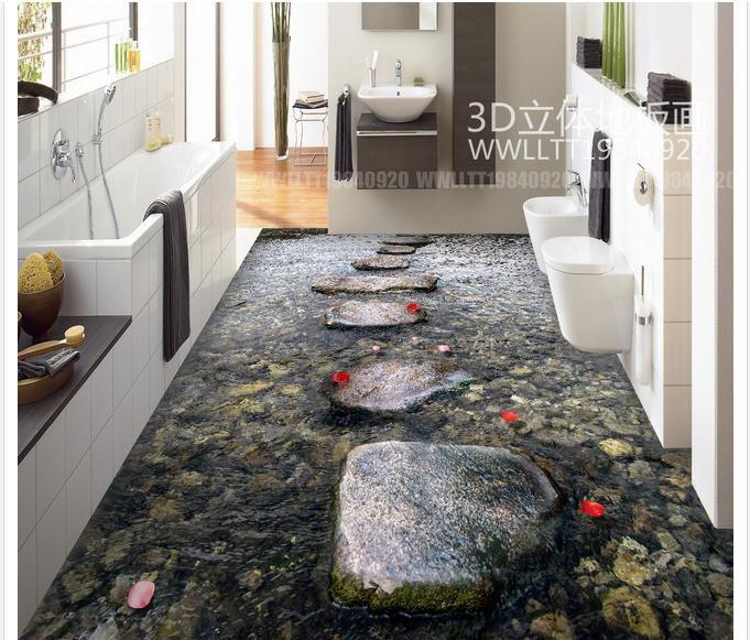 Buy here 3d floor painting for Bathroom 3d wallpaper