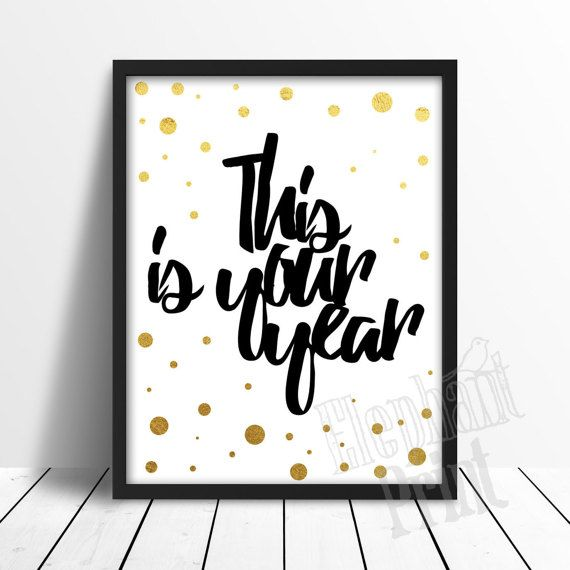 This Is Your Year printable poster | Elephant Print on Etsy