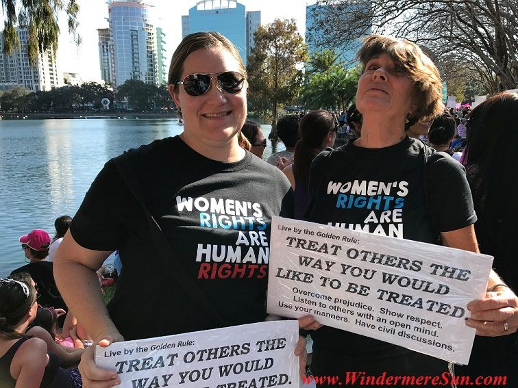 Demonstrator At Lake Eola Of Orlando In Support Of The Women S March On Jan 21 2017 Details In Windermere Sun At Http Wind Women Womens March Lake Eola