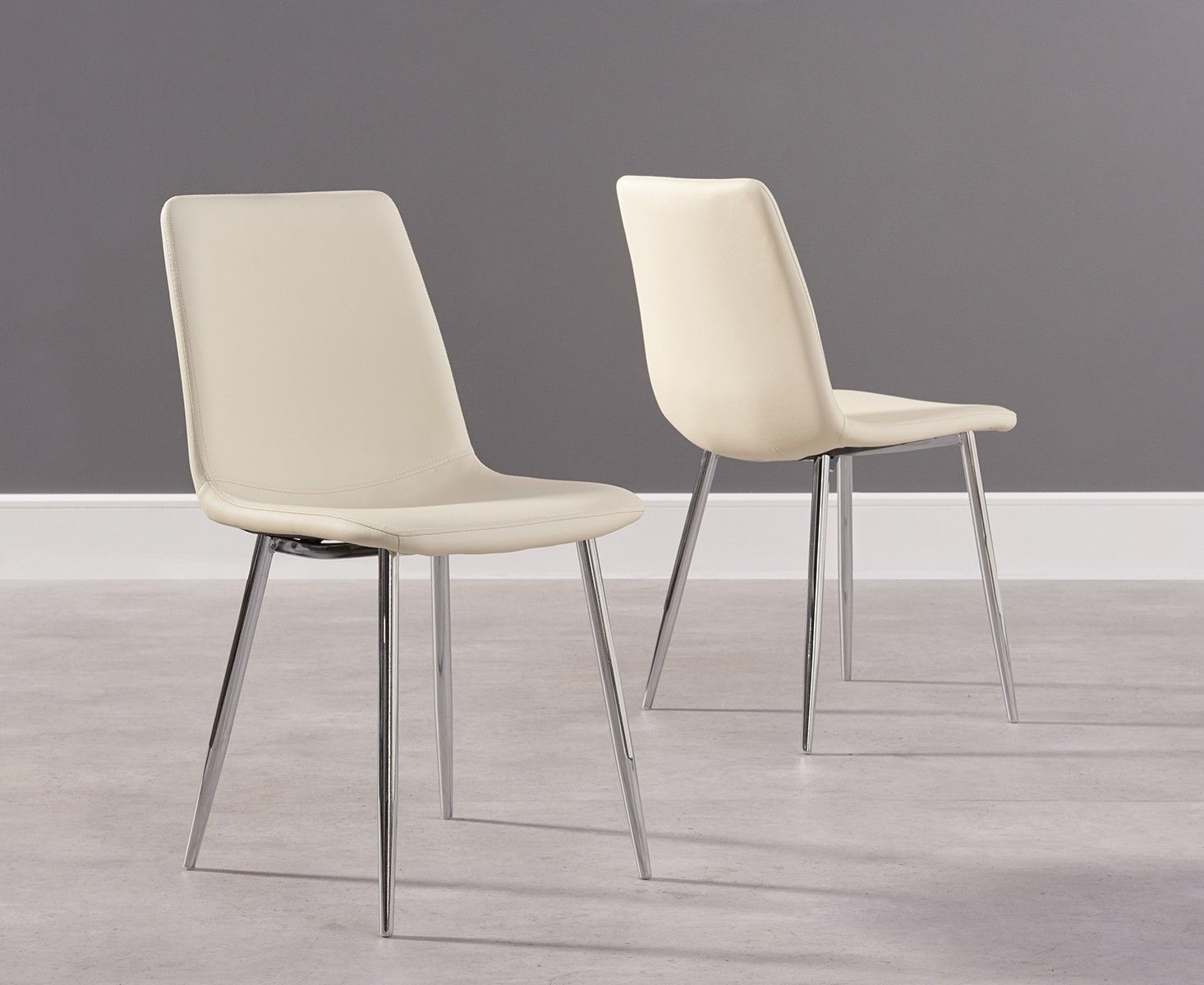Faux Leather Dining Chairs With Chrome Legs | Faux leather ...