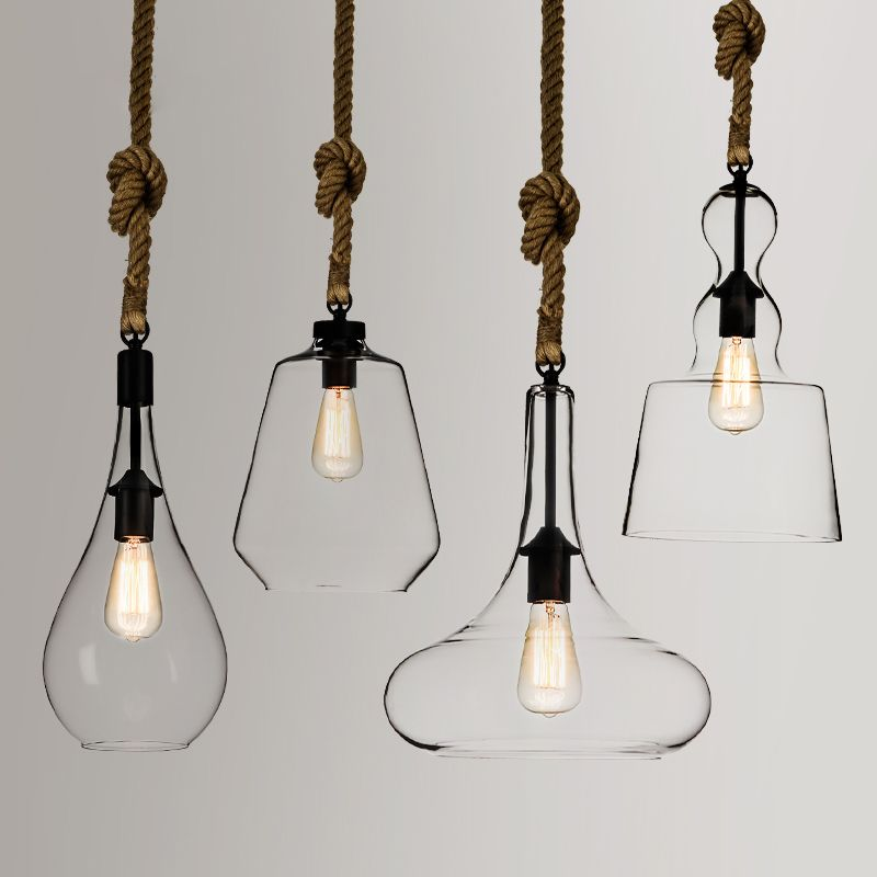 Used Singly Or In Multiple These Chic Gl Hemp Rope Pendant Lights Will Be A Perfect Solution For Your Home