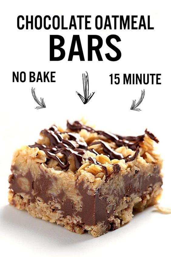Photo of No Bake Chocolate Oatmeal Bars – Sugar Apron