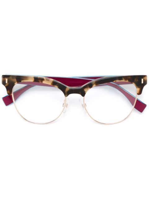 dc0ac9f791 Shop Fendi cat eye frame glasses in Ottica Giulianelli from the world s  best independent boutiques at farfetch.com. Shop 400 boutiques at one  address.