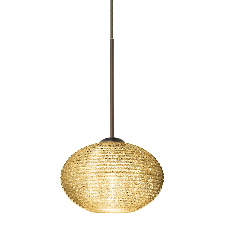 Lasso one light low voltage pendant glass diffuser pendants and