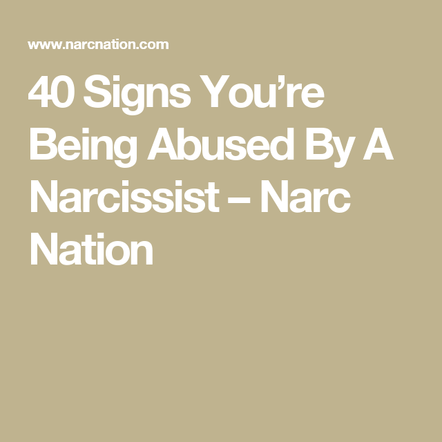 Signs of a narc