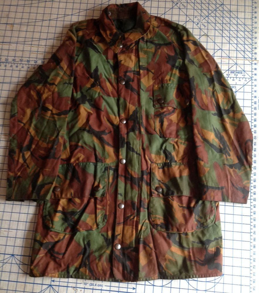 BARBOUR MILITARY DPM CAMOUFLAGED WAX JACKET - 1980s and RARE £265.00 (14B) cbbeb86b1f