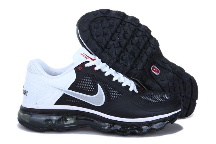 nike air max 2013 hommes chaussures noir blanc