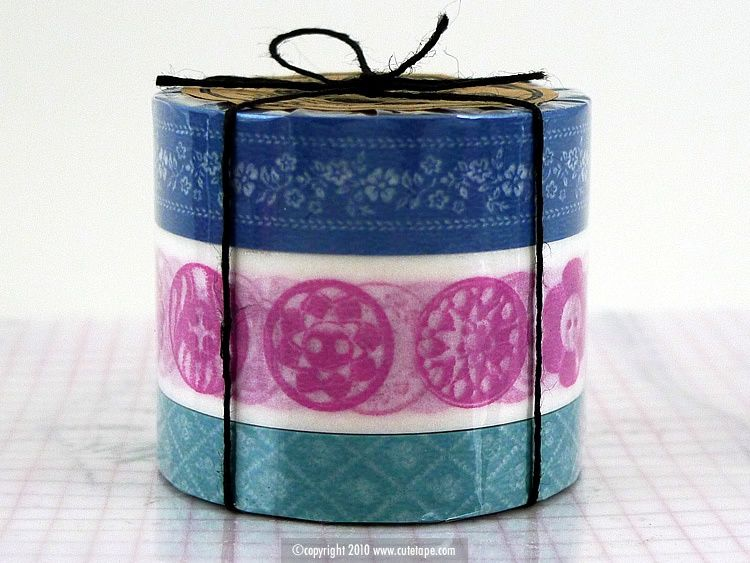 A cute set of 3 japanese washi tape one with floral