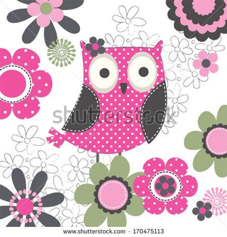 Owl invitation card vector illustration stock vector baby desing ilustraes owl invitation card vector stopboris Choice Image
