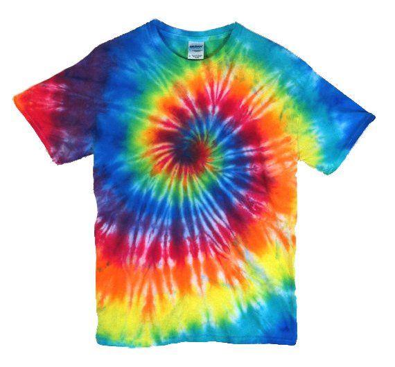 332131504b491 Tie Dye T-Shirt - Classic Rainbow Spiral - 100% Cotton Mens & Womens ...