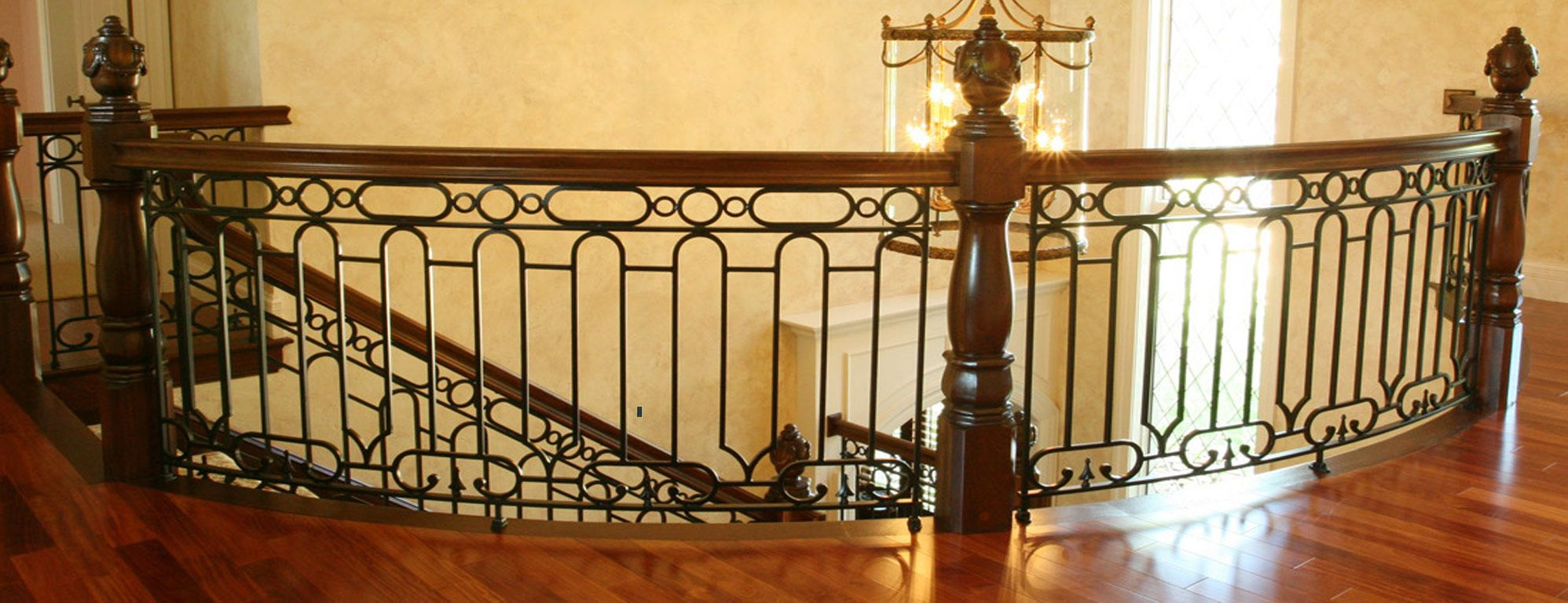 Image Of Wrought Iron Balusters Picture Railing