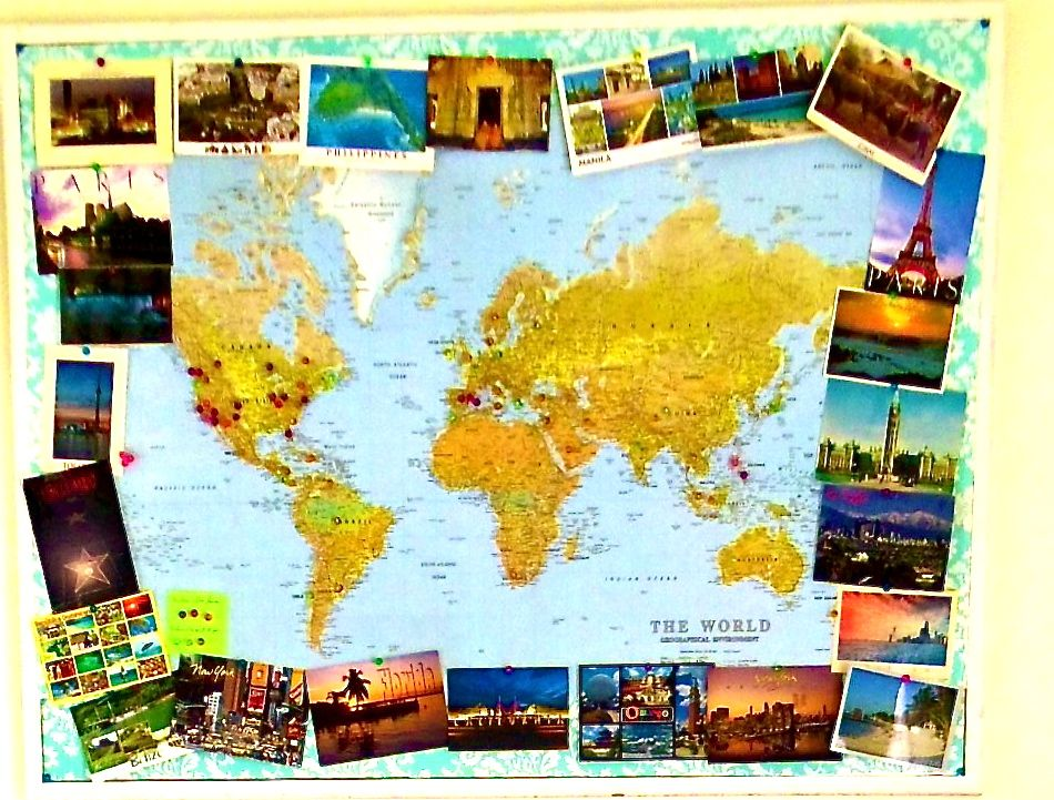 For crafty explorers cork board with a world map different color for crafty explorers cork board with a world map different color pins for gumiabroncs Image collections