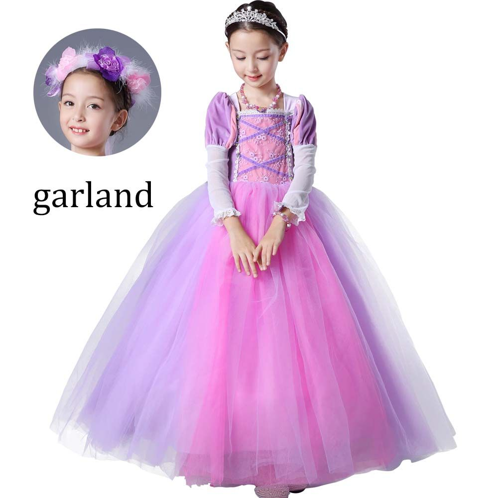 Chrismas vestido de Princesa Rapunzel Rapunzel Meninas Traje Tutu ...