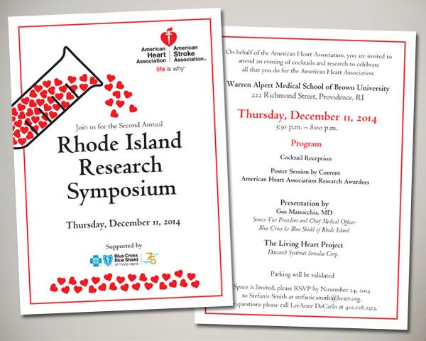 American Heart Association RI Research Symposium invitation design
