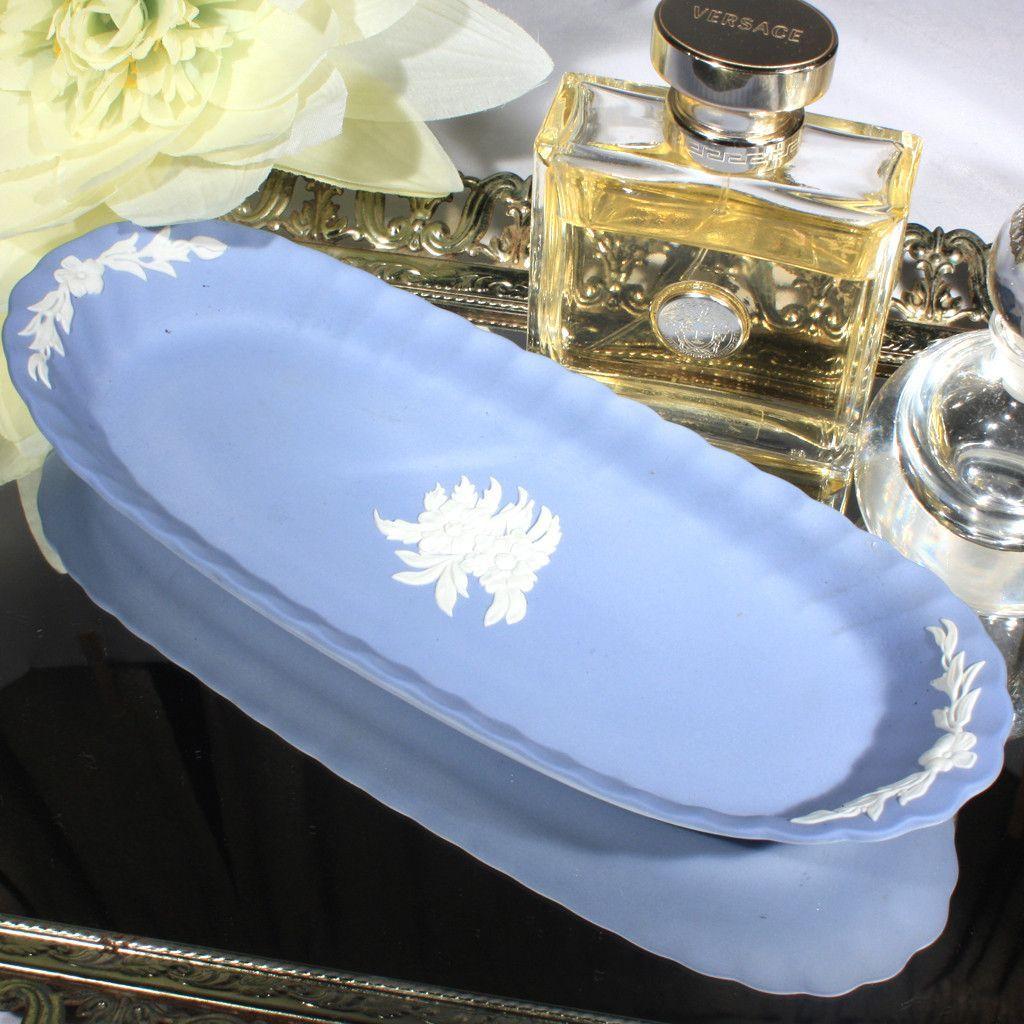 Wedgwood Jasperware Blue Trinket Dish
