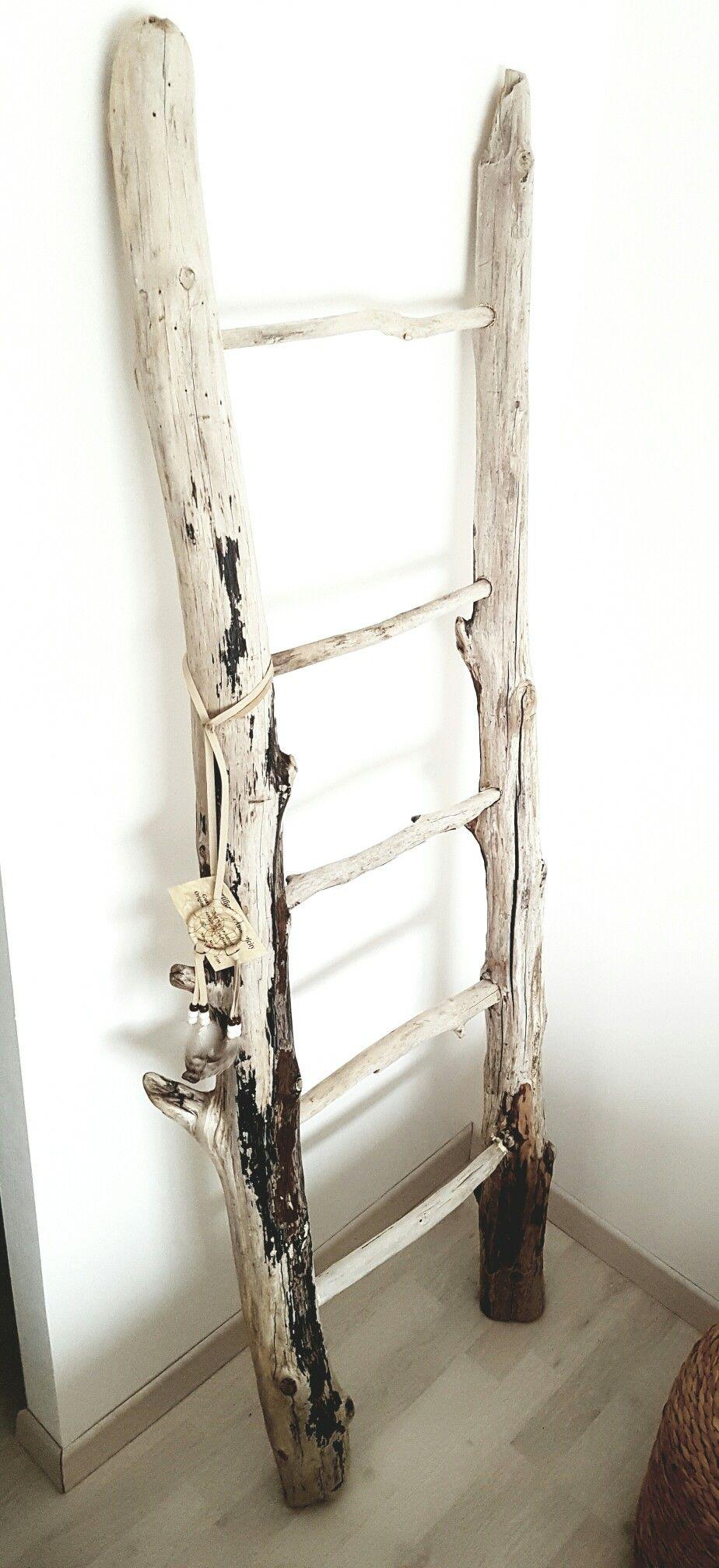 Deco Avec Une Echelle En Bois echelle en bois flotté | meubles en bois flotté, echelle