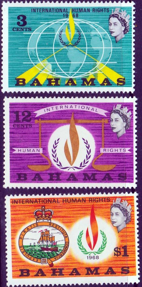 Postage Stamps Bahamas 1968 Human Rights Year SG 313 More Fine Stamps for collectors Here