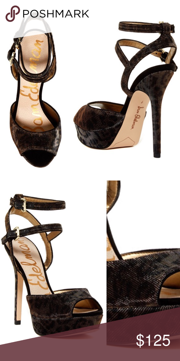 25daf43d4d8 Sam Edelman Nadine Sandal Gorgeous bronze shimmer leopard Sam Edelman sandal!  NWT! 5.5