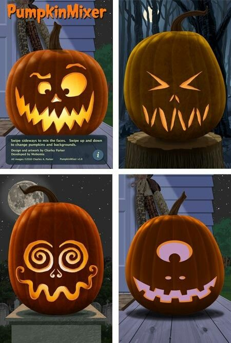 Kürbisgesichter #pumpkincarvingstencils