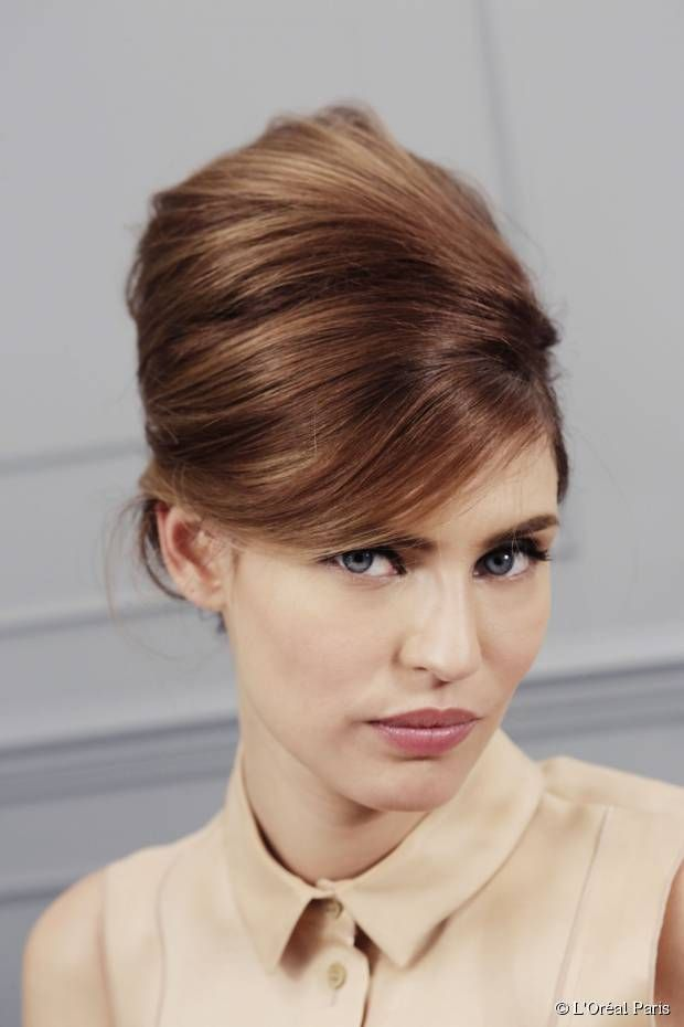 Hot To Make Retro French Twist With A Bouffant In 5 Easy Steps
