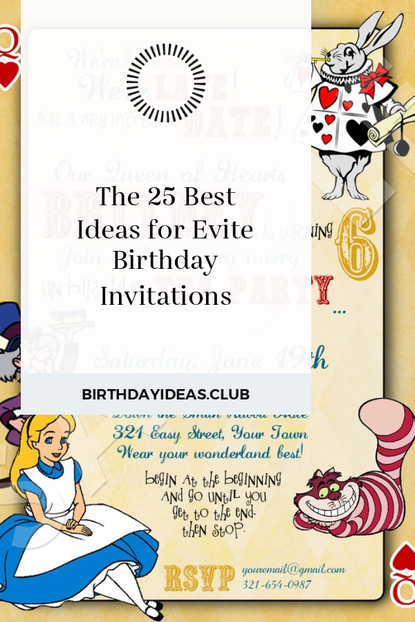 The 25 Best Ideas For Evite Birthday Invitations