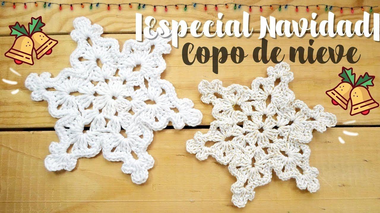Copo de nieve a crochet - YouTube | Costura | Pinterest