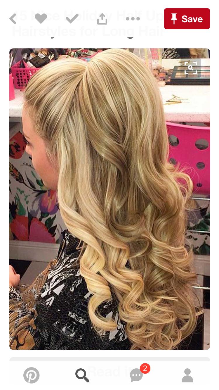 For jr. bridesmaid | Wedding hair | Pinterest