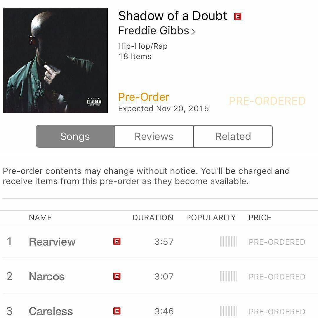 @Regrann from @freddiegibbs -  Pre-Order that for ya boy. Much appreciation to everybody that's been fuckin wit us to allow us to get to this point.  Love y'all #ESGN #SOD #Regrann