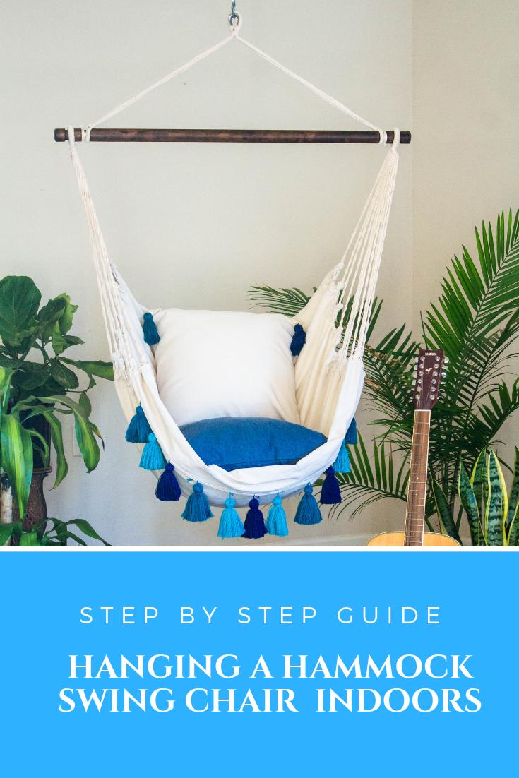 How To Hang A Hammock Chair Indoors Diy Tips Indoor Hammock Chair Diy Hammock Chair Diy Hammock