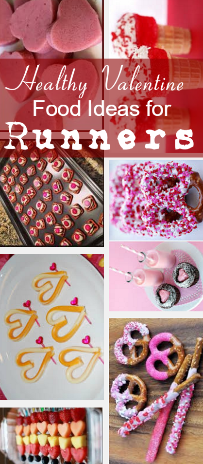 If you have an upcoming valentines theme road race or running club party/event, here are some healthyValentine food ideasfor runners that are either loaded with energy, great for recovery and fight fat!